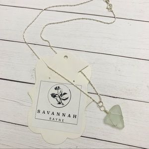 Sea Glass necklace NWT